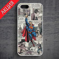 """Superman"" Case for iPhone 4/4S, 5/5S, 6. Worldwide shipping. Store's url http://vk.com/market-71763847"
