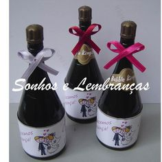 Mini Champanhe decorada bolhas De Sabão