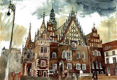 Wroclaw The Astonishing Architectural Watercolors of Maja Wronska • Page 10 of 10 • BoredBug