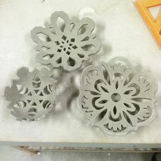 Aw yeah snowflake bowls #pottery #ceramics #art by hobbit.with.a.bopit