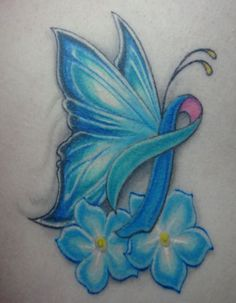 Pink Ribbon Butterfly Tattoo | Cancer Ribbon Butterfly Tattoo Tattoos Pinterest