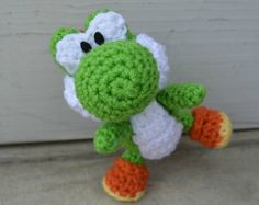 Crochet Patterns Yoshi : Yarn Yoshi Plush Amigurumi Doll Large version amigurumi Pinterest ...