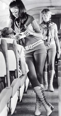 Umm, wow - no wonder they got a bad rep!    Southwest Airlines air hostess, 1968