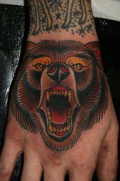 Classy Bear  http://tattooideas123.co.uk/wp-content/uploads/2013/09/Classy-Bear.png #Animaltattoos, #Classictattoos, #Handtattoos
