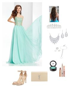 """turquoise prom dress"" by thea-lala ❤ liked on Polyvore featuring Clarisse, River Island, Yves Saint Laurent, Dolce Vita, Beauty Is Life, Kate Marie, Bling Jewelry, Plukka and Torrid"