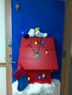 snoopys christmas my door for decorated door contest at work school door decorations christmas - Pinterest Christmas Door Decorations
