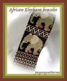 African elephant ... by jayceepatterns | Jewelry Pattern