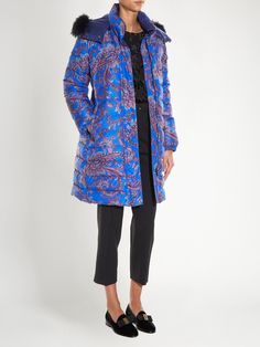 Fur-trimmed paisley-print quilted coat  | Etro | MATCHESFASHION.COM US