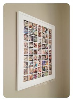Instagram display  - it's just one picture. DIY instructions, print for only $6 @ Costco---MUST DO THIS