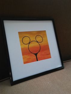 Check out this item in my Etsy shop https://www.etsy.com/listing/252359768/mickey-mouse-photo-at-sunset-in-a-black