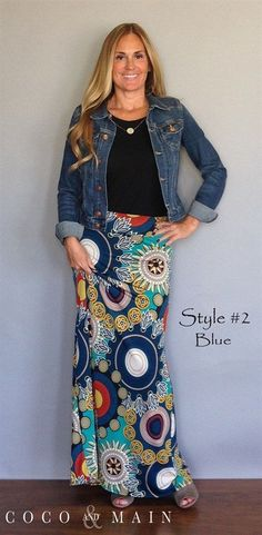 Fall Maxi Skirts 5 Styles | Jane - love the colors - great for my art teacher wardrobe