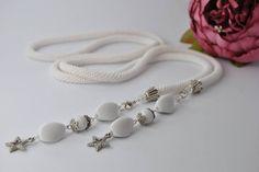 Luxury Handmade Jewelry Crochet, Rope beads crochet, Crochet beaded Necklace, Bead necklace, Handmade necklace, Set beaded jewelry, Beadwork by JewelryShopCamomile on Etsy
