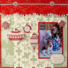 Merry Christmas Scrapping Page...Anna Griffin.