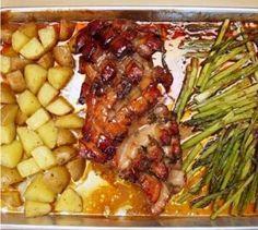 Slow Oven Roasted Honey Glazed Pork Shoulder