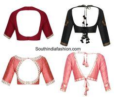 latest saree blouse back neck designs photo Latest Blouse Neck Designs, Latest Saree Blouse, Simple Blouse Designs, Neck Designs For Suits, Saree Blouse Neck Designs, Stylish Blouse Design, Choli Designs, Blouse Neck Patterns, Designer Blouse Patterns