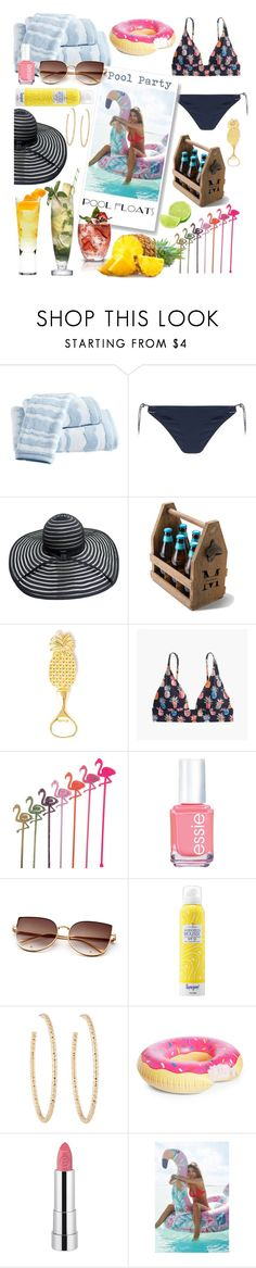 """""""Pool Party"""" by linmari ❤ liked on Polyvore featuring Destinations, STELLA McCARTNEY, J.Crew, Essie, Martha Stewart, Supergoop!, Berry, Big Mouth, Forever 21 and Urban Outfitters"""