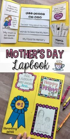 Help your students honor their moms with this Mother's Day Lapbook activity! This file includes everything needed to make a lapbook for the special mother, grandma or aunt in your student's life!