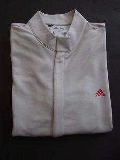 Adidas Men's Gray/Red L/S PolyesterFull Zip Sports Track Jacket Sz  L & XL Sale #adidas #FullZipJacket