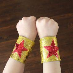 Paper Roll Craft: Super Hero Bracelets