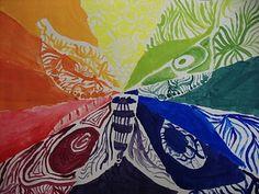 5th Grade Creative Color Wheels Color Wheel Lesson, Color Wheel Art, Teaching Colors, Teaching Art, Teaching Ideas, Color Art Lessons, School Art Projects, School Ideas, 5th Grade Art