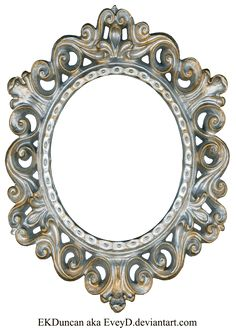 Vintage Silver and Gold Frame - Oval by ~EveyD on deviantART