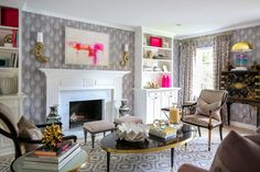 See how Jerrod Blandino and his husband Jeremy Johnson, co-founders of Too Faced Cosmetics, infused party-ready glamour into this traditional 1937 home. Beverly Hills Houses, Character Home, Interior Decorating, Interior Design, Eclectic Design, Eclectic Decor, Interior Ideas, Too Faced Cosmetics, Home Look
