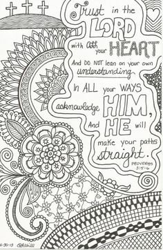 Inspirational Zentangle-Inspired Doodle by plhill0506 on Etsy