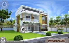 Here are the House Design Ideas And Plans. This article about House Design Ideas And Plans was posted under the … House Arch Design, 2 Storey House Design, Simple House Design, House Design Photos, Cool House Designs, Home Design Plans, Plan Design, Design Ideas, Simple House Plans