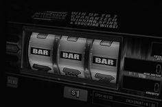 1 Dollar Bar Slot Machine #slots #slotmachine #blackandwhite