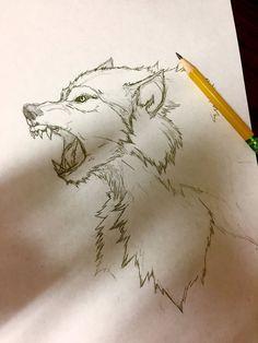 Werewolf Sketch by Arrancarfighter on DeviantArt