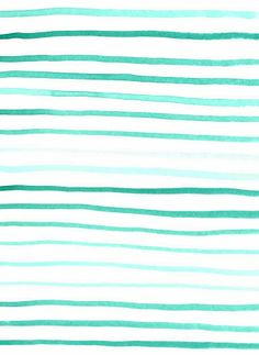 Watercolor turquoise stripes | Caitlin Cawley, March 2014