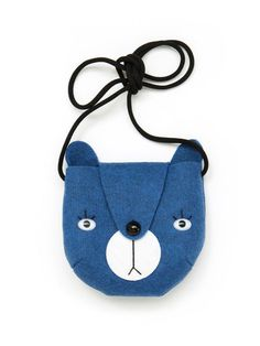 Mini Dressing, Bear bag by Mini Dressing - Blue - Sunday in color Cute Purses, Purses And Bags, Couture Cuir, Animal Bag, Felt Purse, Felt Patterns, Craft Bags, Kids Bags, Blue Bags