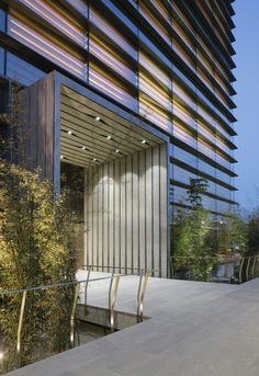 Image 19 of 29 from gallery of Ankara Office Tower / Anmahian Winton Architects. Photograph by Florian Holzherr Front Door Design, Entrance Design, Gate Design, Facade Design, Office Entrance, Main Entrance, Tor Design, Architecture Building Design, Facade Lighting