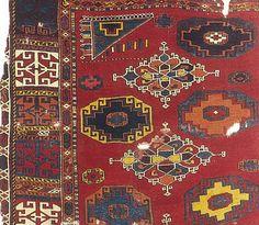 15th-16th century early Ottoman rug fragment with Memling Gül, Turkey. H. Kircheim, Orient Stars
