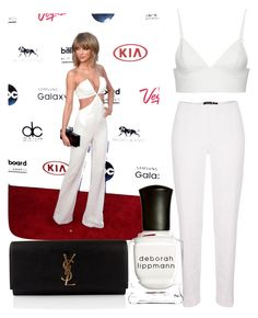 """""""Red Carpet Look: Taylor Swift"""" by buzzcat ❤ liked on Polyvore featuring T By Alexander Wang, Yves Saint Laurent, Deborah Lippmann, taylorswift and Billboard"""