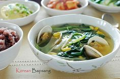 Sigeumchi Doenjang Guk (Spinach Doenjang Soup) - Korean Bapsang