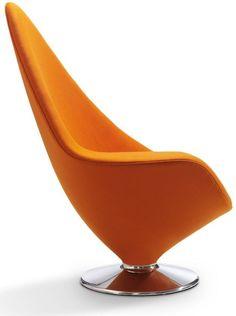 The Plateau Lounge Chair by Erik Magnussen, futuristic furniture, modern… Design Furniture, Art Furniture, Barbie Furniture, Luxury Furniture, Contemporary Furniture, Furniture Legs, Garden Furniture, Orange Furniture, Furniture Movers
