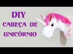 DIY: Como Fazer uma Cabeça de Unicórnio para Decorar a Parede do seu Quarto | Ideias Personalizadas - YouTube