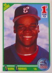 1990 Score Frank Thomas Rookie Baseball Card #663 - Shipped In Protective Display Case! by SCORE. $3.95. Great looking baseball card of this popular player. This is just one of the thousands of collectible cards we are offering here on Amazon. This card is shipped in a protective display case to preserve its outstanding condition.