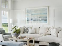 House Tour-A Gorgeous Beach House Sitting High A Cliff in Newport British Beaches, Exotic Beaches, Newport Cliff Walk, Lakeside Cottage, House Sitting, French Chairs, Coastal Living, House Colors, Color Inspiration