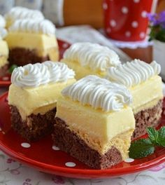 Hungarian Cake, Hungarian Recipes, Cold Desserts, Delicious Desserts, Sweet Recipes, Cake Recipes, Different Cakes, Sweet Cookies, Cake Bars