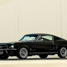 Classic 1968 Blazing Black Ford Mustang ,Muscle car