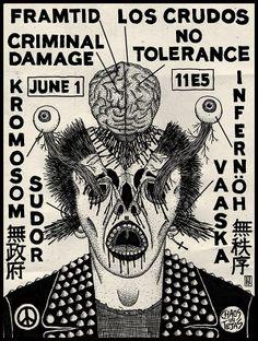 Chaos in Tejas 2013 - Framtid, Los Crudos, Criminal Damage, No Tolerance, Infernoh, Vaaska, Kromosom, Sudor