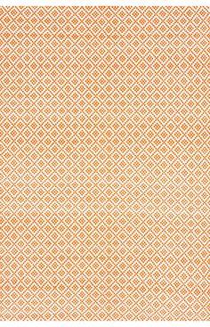 Chalet Diamonds Cotton Trellis Flatwoven Orange Rug | Contemporary Rugs #RugsUSA