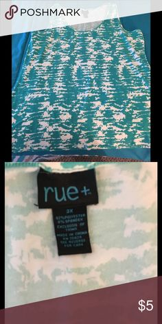 NWOT 3X Super Soft Tank Top Rue21 Item is new without tags!   Super soft tank top.  Mint green and ivory.  Size 3X.  Rue 21.    Important:   All items are freshly laundered as applicable prior to shipping (new items and shoes excluded).  Not all my items are from pet/smoke free homes.  Price is reduced to reflect this!   Thank you for looking! Rue 21 Tops Tank Tops