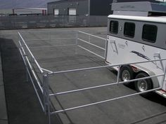 Trailer World : Trailer Talk : Best New Portable Trail Corral that Attaches to your Trailer Horse Camp, Horse Gear, Horse Tips, Clydesdale, Horse Stables, Horse Barns, Appaloosa, Horse Trailer Organization, Trailer Diy