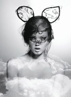 Lindsey Wixson byKarl Lagerfeld for Flair