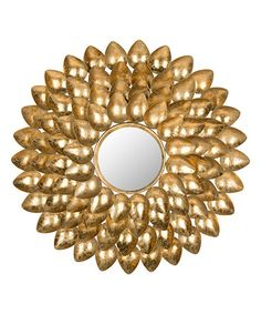 Make this yourself with a mirror gold antique paint a round cut plyboard or felt backing and get this PLASTIC SPOONS!......or buy it here, This Antique Gold Antonella Wall Mirror is perfect! #zulilyfinds