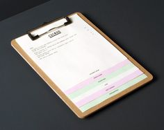 Logo and pastel paper menu designed by Band for underground electronic music venue, cocktail and tapas bar Cuckoo