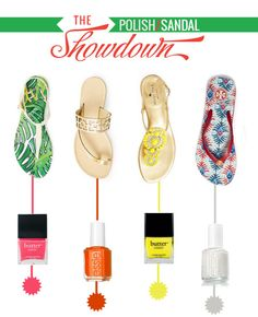A guide on pairing polishes + sandals this SPRING!